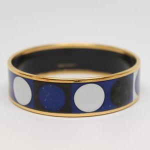 Hermes Deco Dot Wide Enamel Bracelet 65